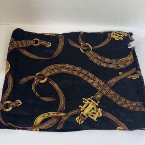 Ralph Lauren silk scarf  black gold
